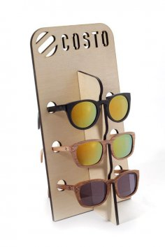 Laser Cut Sunglasses Holder Free Vector