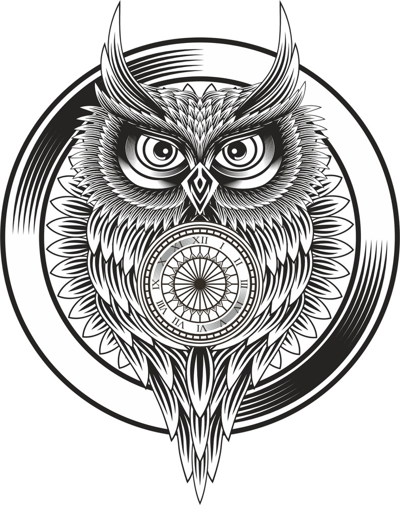 Owl Clock Ornament Free Vector