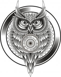 Owl Clock Ornament Free Vector