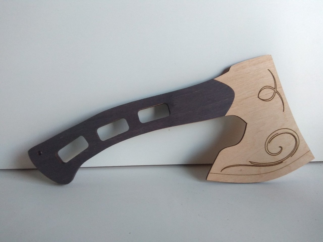 Laser Cut Wooden Axe Plywood Template Free Vector
