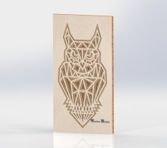 Laser Cut Layered Wooden Owl Free Vector