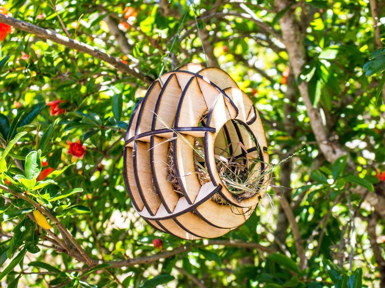 Laser Cut Bird House Plans Template PDF File