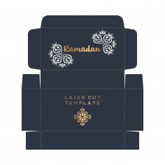 Laser Cut Ramadan Gift Box Template Free Vector