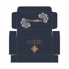 Laser Cut Ramadan Gift Box Template Free Vector