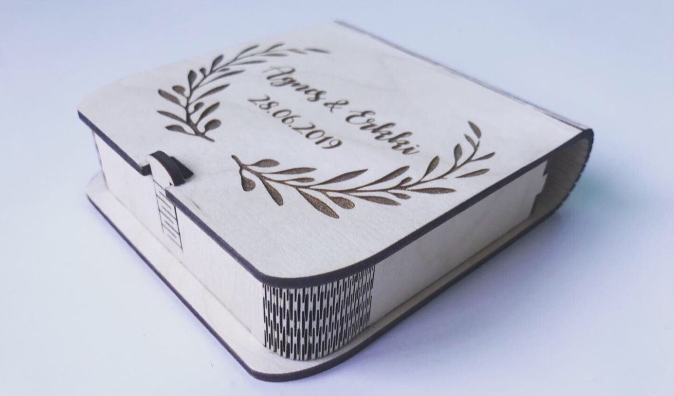 Wooden Box with Latch Laser Cut CNC Plans Free Vector