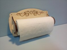 Laser Cut Engraved Paper Towel Holder Template Free Vector