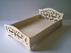 Laser Cut Toy Crib For Dolls DXF File