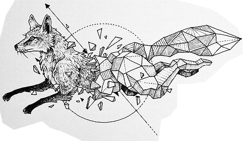 Laser Engraving Fox Modern Wall Art BMP File