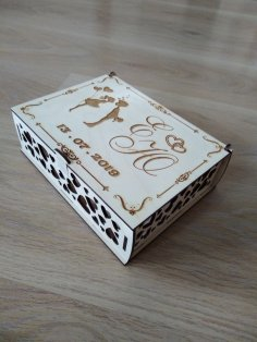 Wedding Box With Lock Laser Cut Template Free Vector