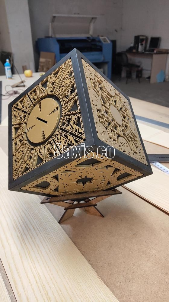 Laser Cut Decorative Donation Box Free Vector