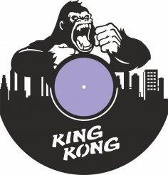 Laser Cut King Kong Vinyl Record Wall Clock Free Vector