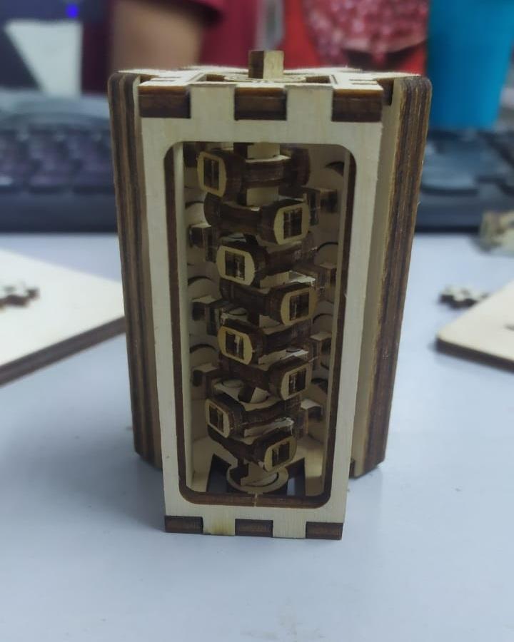 Laser Cut Wooden V8 Engine Free Vector