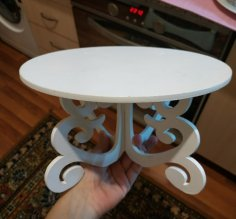 Laser Cut Christmas Cake Stands Decorative Cake Stands Ideas DXF File