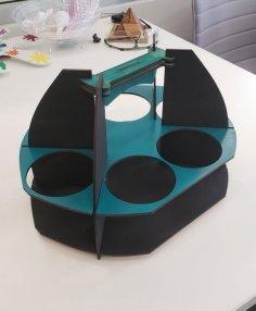 Laser Cut Coffee Caddy 3mm DXF File