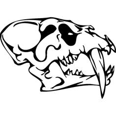 Skull 011 dxf File