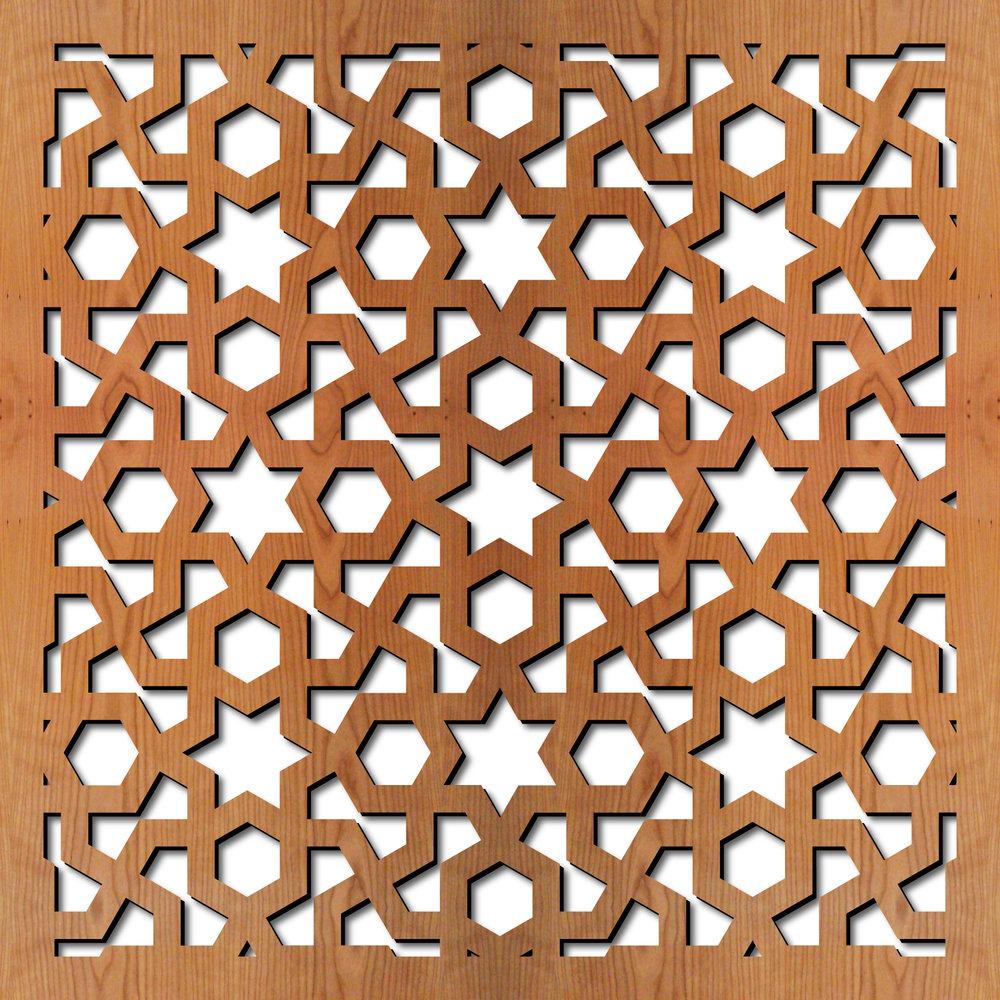 Arabic Geometric Laser Cut Pattern dxf File