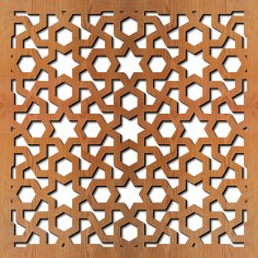 Arabic Geometric Laser Cut Pattern dxf File
