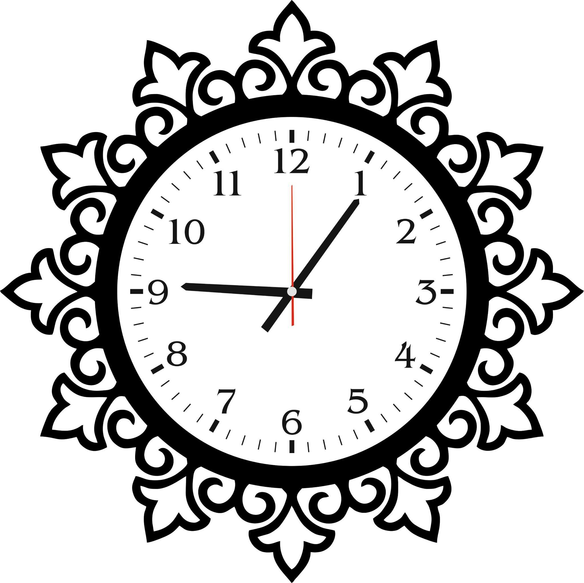 Art Wall Clock Abstract Design jpg Image