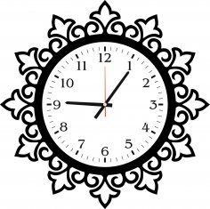 Art Wall Clock Abstract Design jpg Image