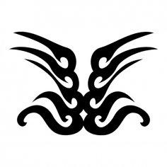 Tribal Wings Tattoo Shape Vector Art jpg Image
