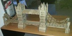London Bridge 3D Puzzle Model Laser Cut Free Vector