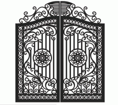 Plasma Cut Gate Design Free Vector