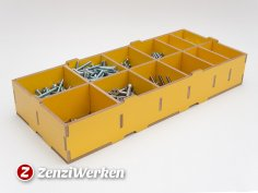 Compartment Storage Box DXF File