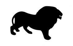 Lion Silhouette dxf File