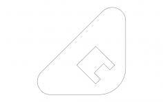 Bottleopener Gusset Style dxf File
