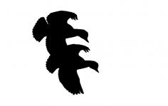 Ducks Flying Cut dxf File