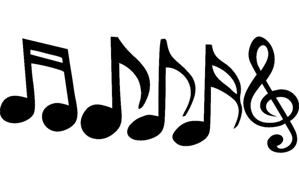 Music Notes dxf File
