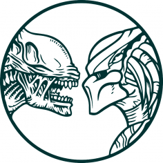 Vector Alien vs predator wall decals Free Vector