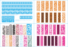 Laser Cut Pattern Collection Free Vector