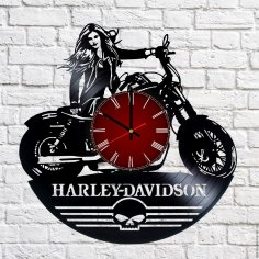 Harley Davidson Vinyl Record Wall Clock CDR File