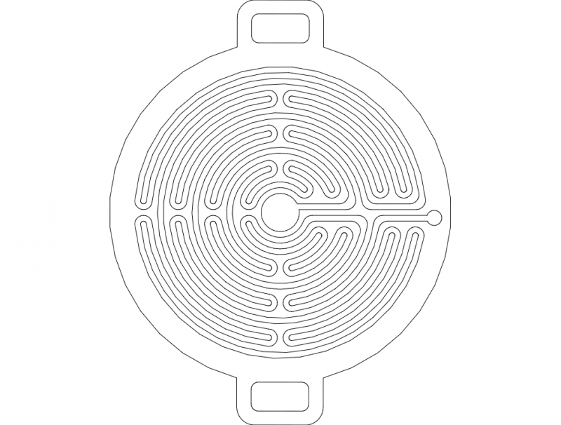 Church Labyrinths For 7mm Ball dxf File