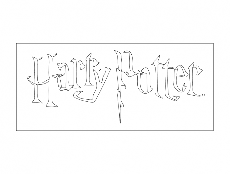 Herry Potter 2 dxf File