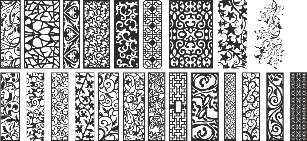 Modern Separators Panels Collection Free Vector