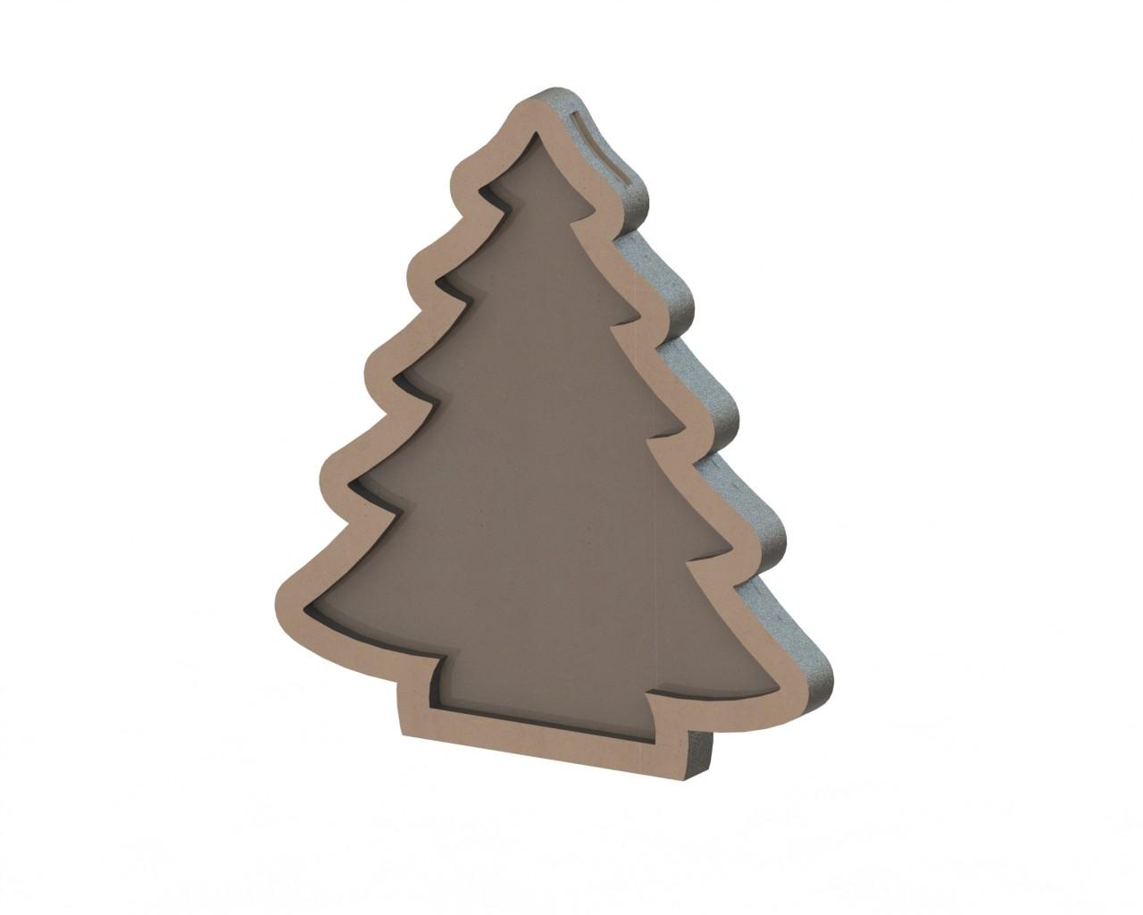 MDF Christmas tree Free Vector