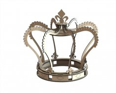 Laser Cut Royal Crown Free Vector