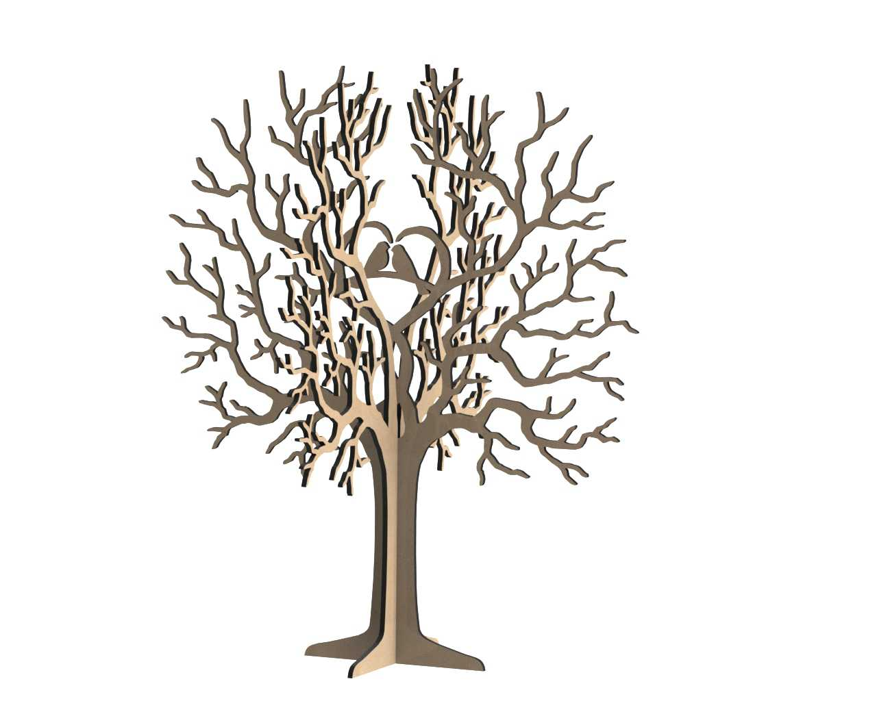Birds Tree Jewelry Stand 3mm Free Vector