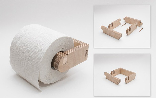 Toilet Roll Holder Laser Cut CDR File