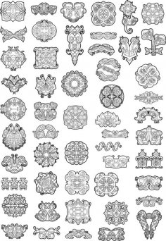 Celtic Ornaments Vector Pack Free Vector