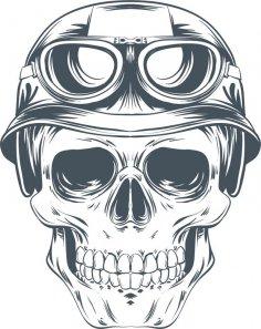 Skull Helmet Vector Free Vector
