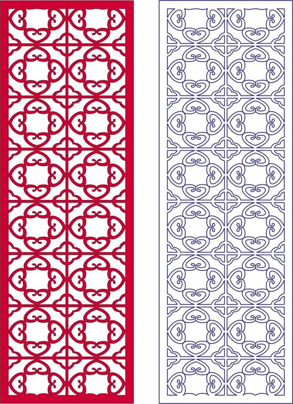 2d Vector Panel Pattern dxf File