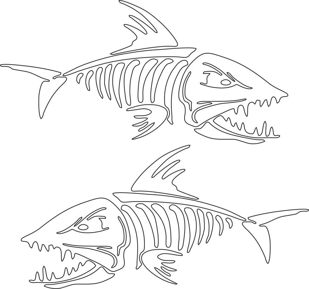 Fish Skeleton Vector Art Free Vector