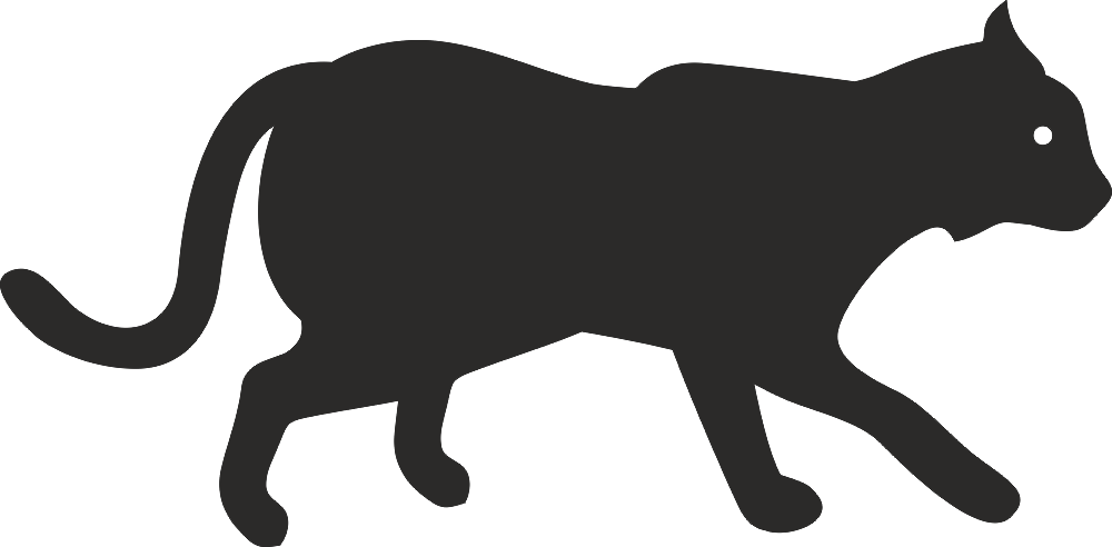 Animal Silhouette Vector dxf File