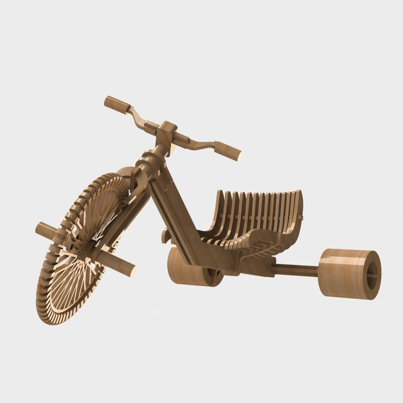 Tricycle Drift 3d Puzzle