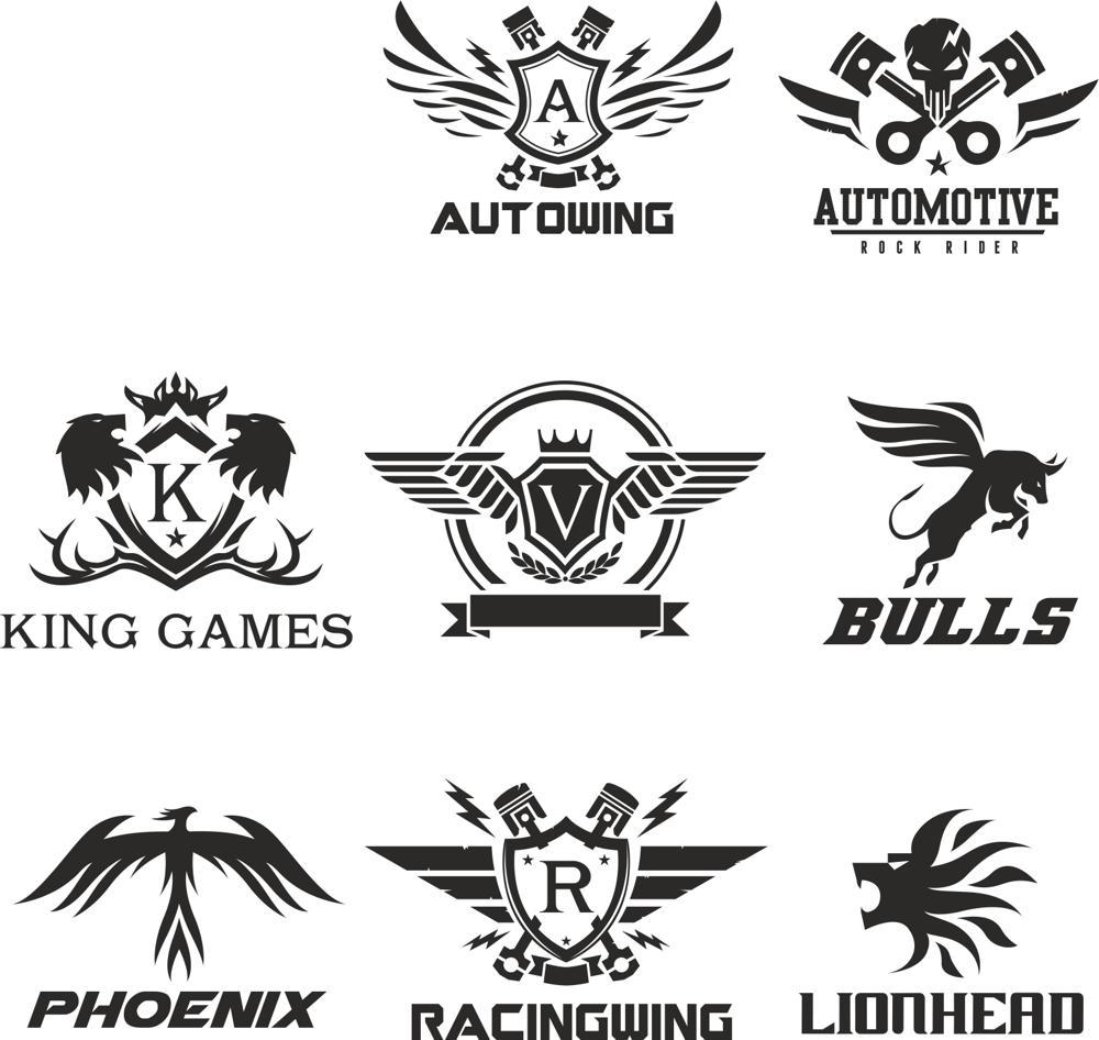 Technical Logo Collection Vectors Free Vector