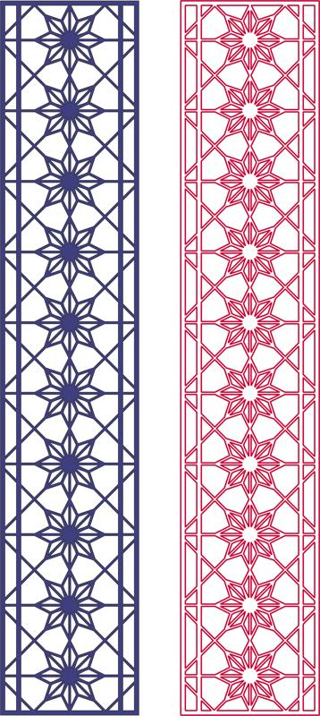 Seamless Star Pattern Design dxf File