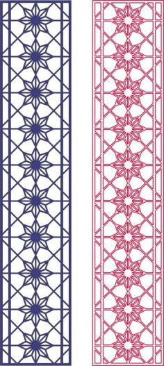 Seamless Star Pattern Design dxf File